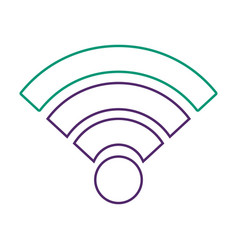 Wifi internet connection signal wave vector
