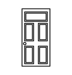 Wooden door with glass icon outline style vector image vector image