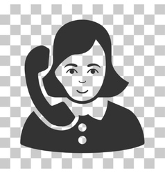 Receptionist icon vector