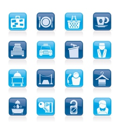 Hotel and motel services icons vector
