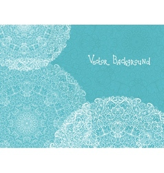 Abstract white and blue doily background vector