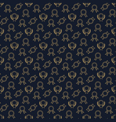 Golden winner badge seamless pattern vector
