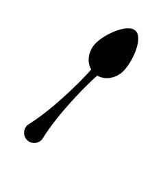cutlery spoon symbol vector image
