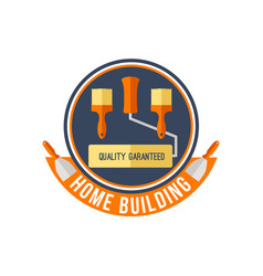 Home building or painting work tools icon vector