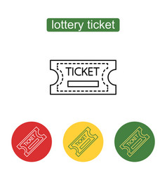 tickets icon outline vector image