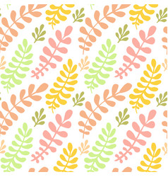 Autumn leaves seamless pattern bright texture can vector