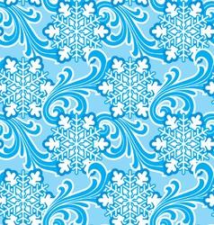 winter ornament seamlec vector image