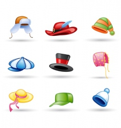 Head wear icon vector