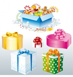 festive gifts vector image
