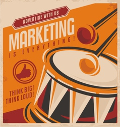 Advertising and marketing creative concept design vector image