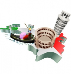 3d Italian tourism vector image vector image