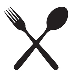 Fork and spoon vector