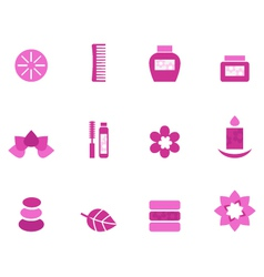Wellness and spa icons vector