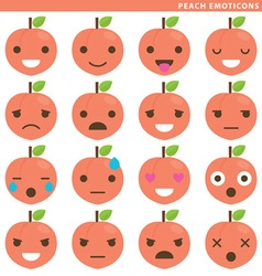 Peach emoticons vector