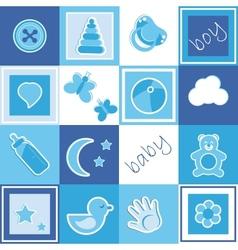 Baby boy seamless vector image vector image