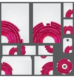 Beautiful template for business design folder vector