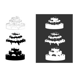 Big wedding or birthday cake vector