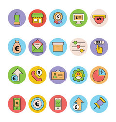Business and office colored icons 15 vector