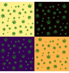 Cannabis leaf seamless background pattern vector image