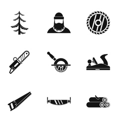 Cleaver icons set simple style vector