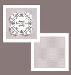 Decorative invitation design vector image vector image