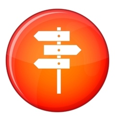 Direction signs icon flat style vector
