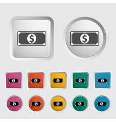 Dollar icon 2 vector image vector image
