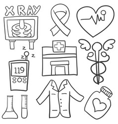 Doodle of health medical object vector