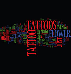 Flower tattoos what do they mean text background vector
