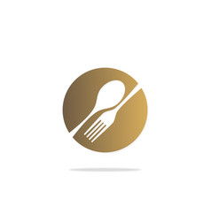 food eat spoon fork restaurant logo vector image