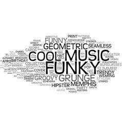 Funky word cloud concept vector