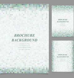 Geometric square pixel pattern page template set vector image
