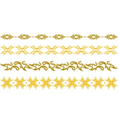 gold floral border vector image vector image
