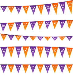 Halloween hanging streamers flags for your party vector image