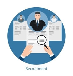 Hiring and human resources concept vector