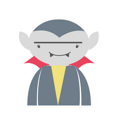Man vampiere with fangs and cape vector