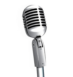 Microphone vintage metallic object vector