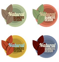 Natural Banners Design Set Vintage Style vector image vector image