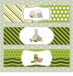 Set of banners with Spa theme object vector image