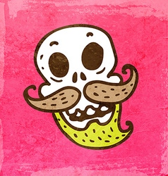 Skeleton with Facial Hair Cartoon vector image vector image