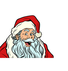 sly santa claus isolated on white background vector image vector image