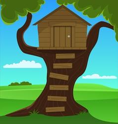 Small tree house vector