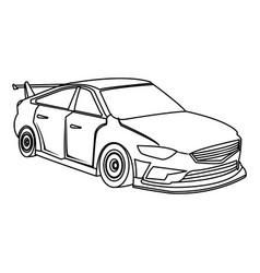 Sport car luxury speed vehicle outline vector