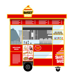 Street food cart vector