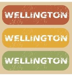 Vintage wellington stamp set vector