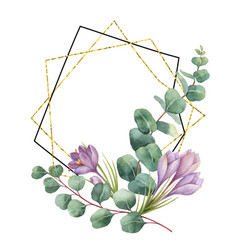 Watercolor composition from the branches of vector