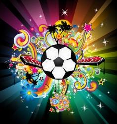 World football disco party vector