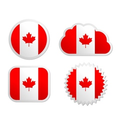 Canada flag labels vector image