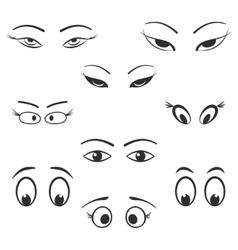 Eye icon set vector