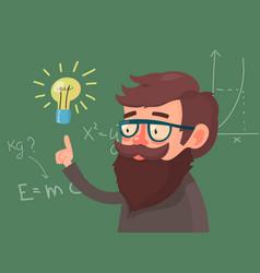 Cartoon character professor vector